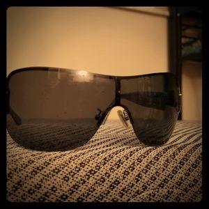 Coach Aubrey sunglasses blue & silver